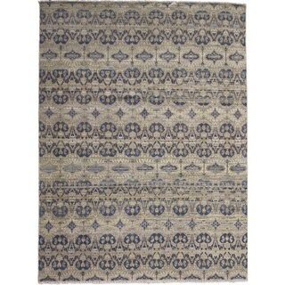 Hand-knotted Oushak Sophia Brown Rug (9'1 x 12'1)