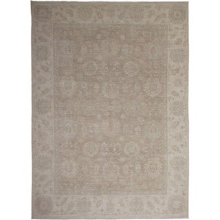 Hand-knotted Peshawar Souad Brown Rug (8'10 x 12'1)