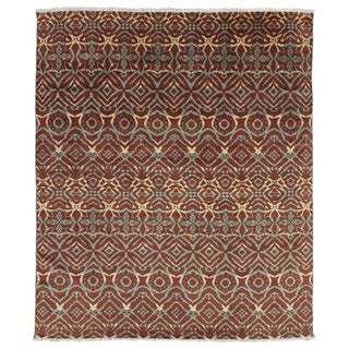 Hand-knotted Ghizlane Rust Rug (8' x 9'9)
