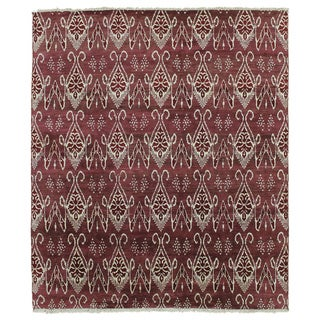 Hand-knotted Rhita Rust Rug (8' x 9'8)