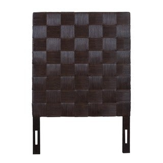 Grand Lake Aldiv brown Modern Square Twin Headboard