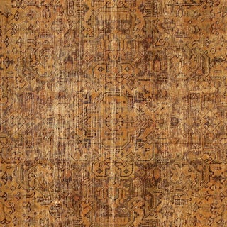 "Noori Rug Distressed Overdyed Kianoush Orange/Orange Rug - 9'6"" x 12'4"""