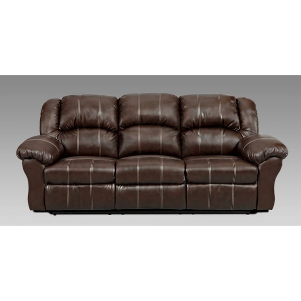 Coaster Company Brown Leatherette Motion Recliner Sofa