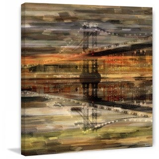"Parvez Taj - ""Night Bridge"" Print on Canvas"