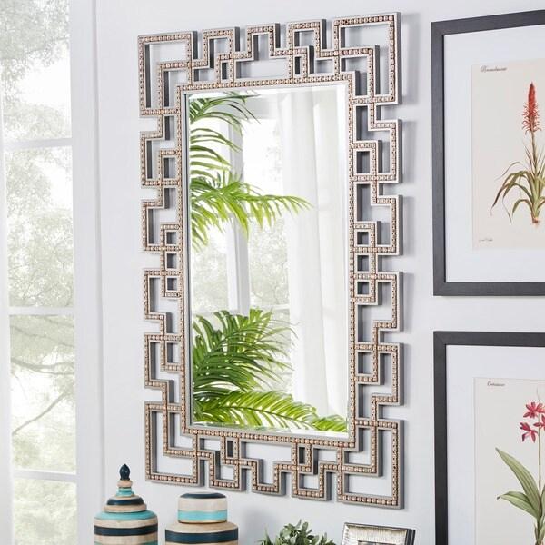 Marlowe Greek Key Frame Accent Wall Mirror - 17535517 ...
