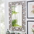 Marlowe Greek Key Frame Accent Wall Mirror