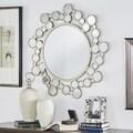 Marlowe Circular Bubbles Frame Accent Wall Mirror