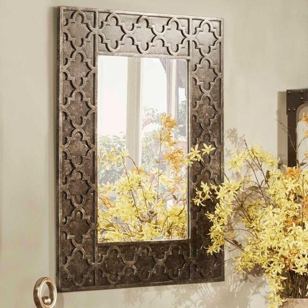 Shop Atticus Morrocan Rectangle Accent Wall Mirror