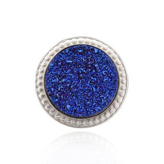 Sterling Silver Round Druzy Ring (China)