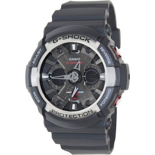 Casio Men's G-Shock GA200-1A Black Resin Analog Quartz Watch
