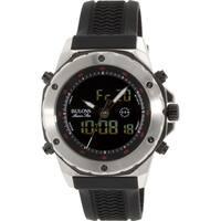 Bulova Men's Marine Star  Black Rubber Analog Quartz Watch