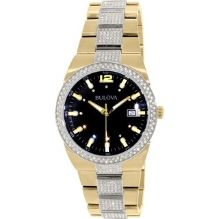 Bulova Men's 98B235 Crystal Accent Two-Tone Bracelet Watch