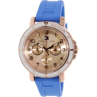 Tommy Hilfiger Women's 1781512 Blue Silicone Analog Quartz Watch