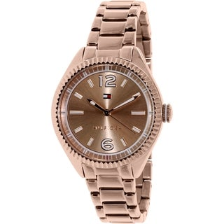 Tommy Hilfiger Women's 1781521 Rose-Gold Stainless Steel Analog Quartz Watch