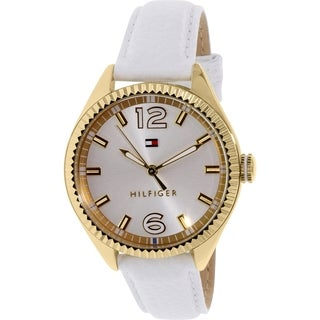 Tommy Hilfiger Women's 1781517 White Leather Analog Quartz Watch