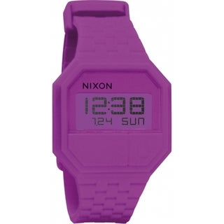 Nixon Men's Rubber Re-Run A169698 Purple Silicone Quartz Watch