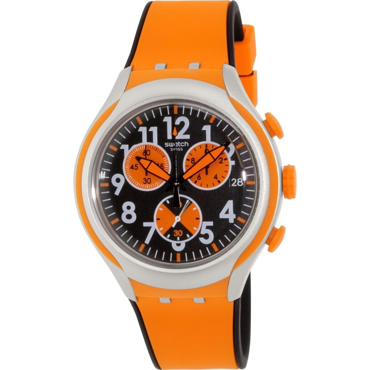 Swatch Men's Irony YYS4003 Orange Rubber Swiss Quartz Wat...