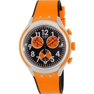 Swatch Men's Irony YYS4003 Orange Rubber Swiss Quartz Watch