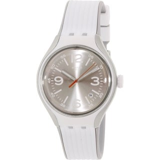 Swatch Men's Irony YES4005 White Rubber Swiss Quartz Watch