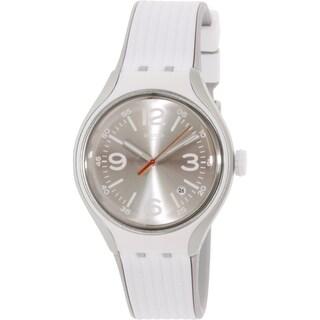 Swatch Men's Irony YES4005 White Rubber Swiss Quartz Watch