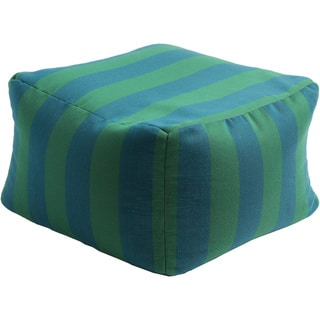 Striped Kaci Square Acrylic 22-inch Pouf