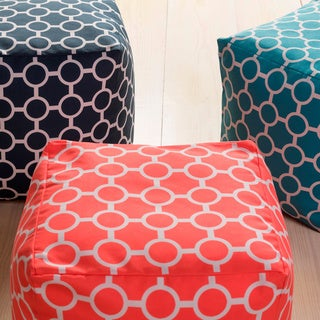 Geometric Sven Square Polyester 18-inch Pouf