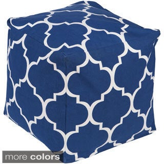 Geometric Nari Square Cotton 18-inch Pouf