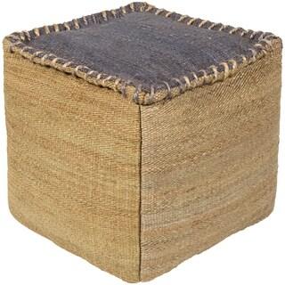 Lami Square Jute 18 inch Pouf