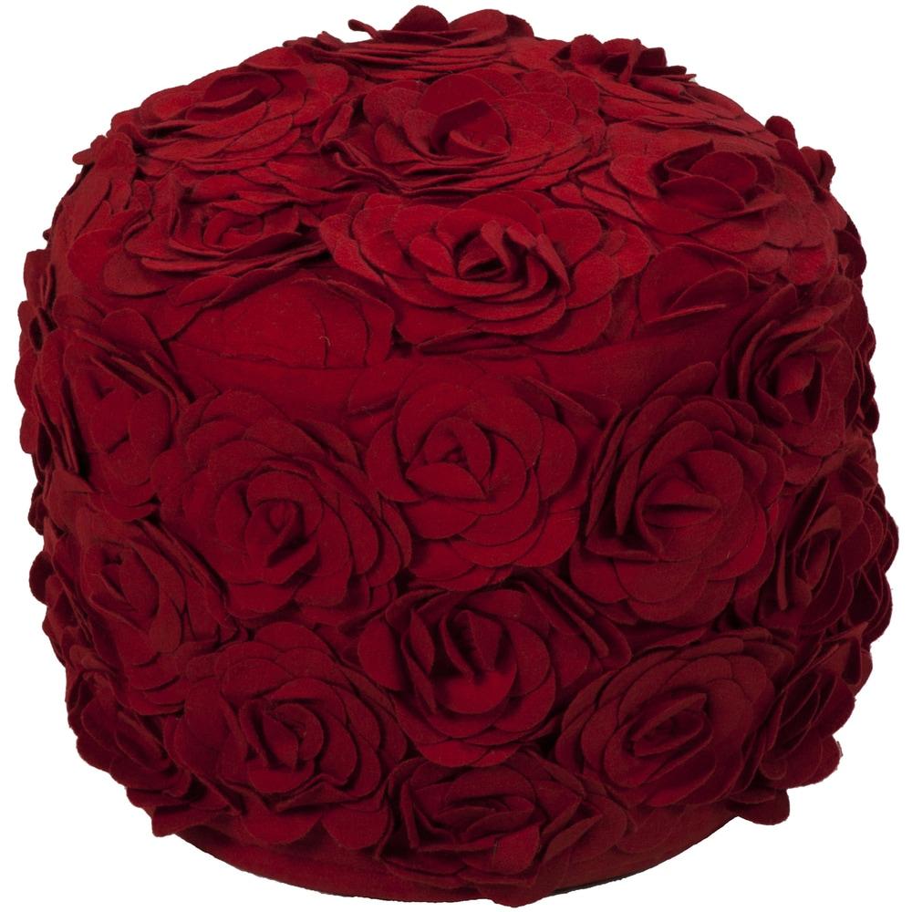 Shop Floral Dole Round Wool 18-inch Pouf - 10439935
