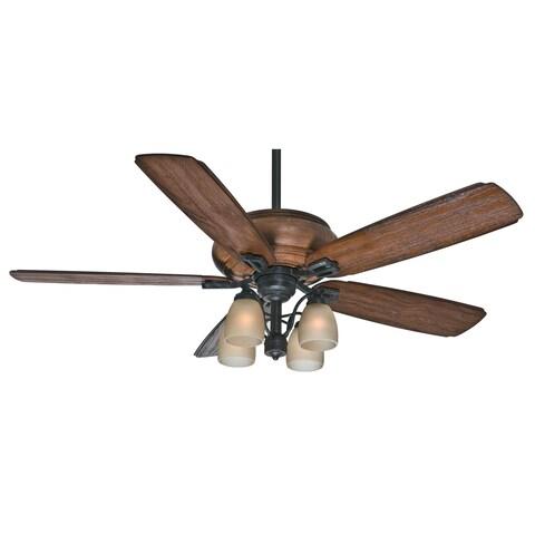 Casablanca 60-inch Heathridge Aged Steel Mountain Timber Wood 5-blade Ceiling Fan