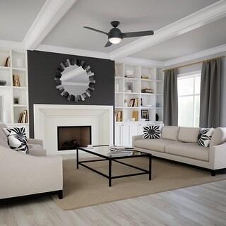 Casablanca 54-inch Trident Graphite Graphite/ Walnut Reversible Veneer Exclusive 3-blade Ceiling Fan