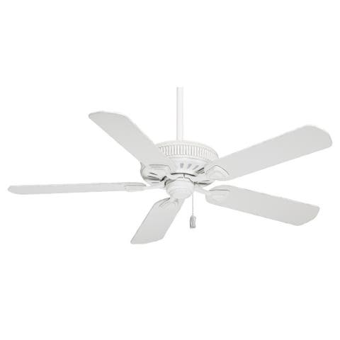 """Casablanca 54"""" Ainsworth Ceiling Fan with Pull Chain - Cottage White"""