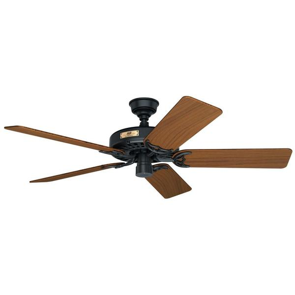 ... Fan 52-inch Chestnut Brown Walnut and Oak Reversible Blade Ceiling Fan