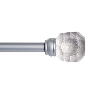 "Kenney 5/8"" Rock Candy Decorative Window Curtain Rod, Clear"