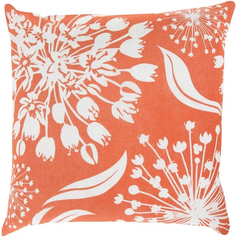 KD Spain: Decorative Cortez Floral 18-inch Throw Pillow