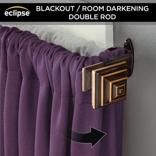 "Eclipse 3/4"" Stacey Room Darkening Double Curtain Rod
