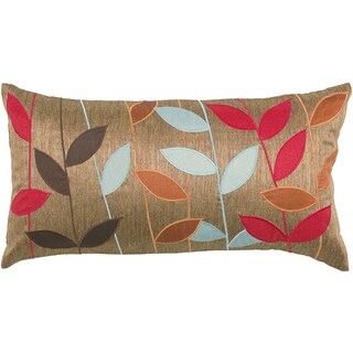 Rizzy Home Copper Embroidered Throw Pillow