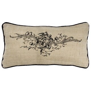 Rizzy Home Natural Printed Throw Pillow