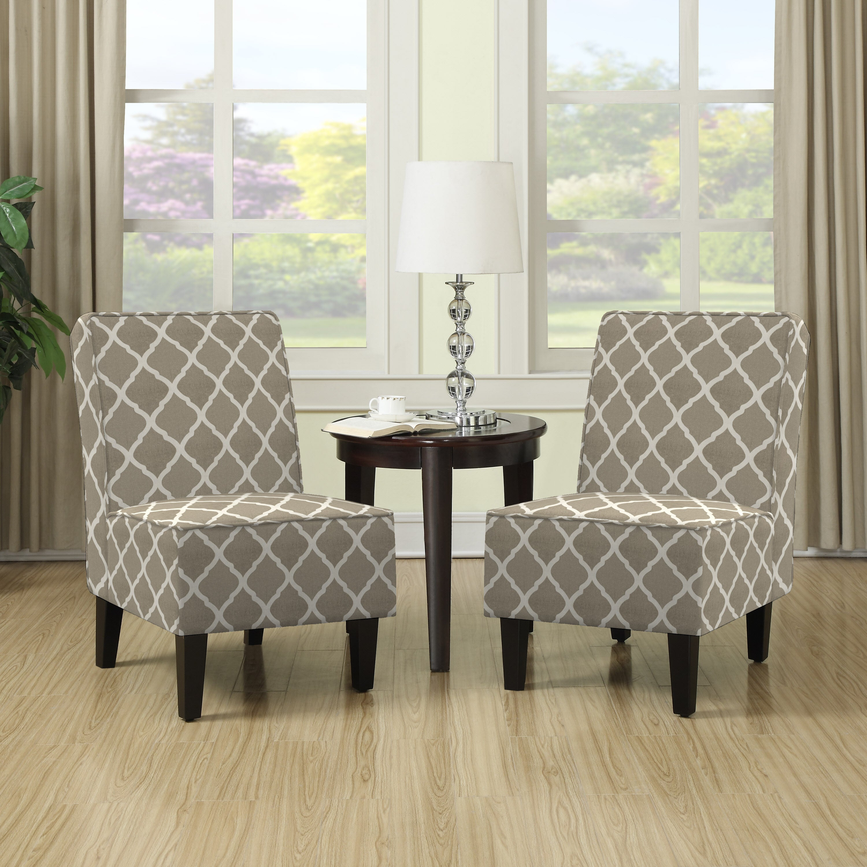 Details About Accent Chairs For Living Room Set Of 2 Armless Tan Club Living Tv Room Bedroom