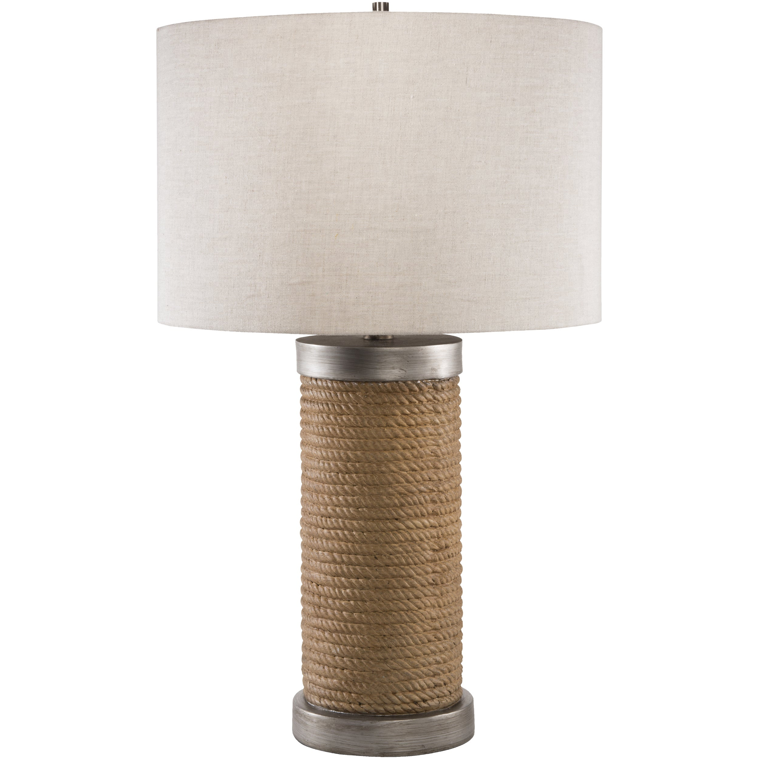 SURYA Contemporary Jean Table Lamp (White) (Resin)