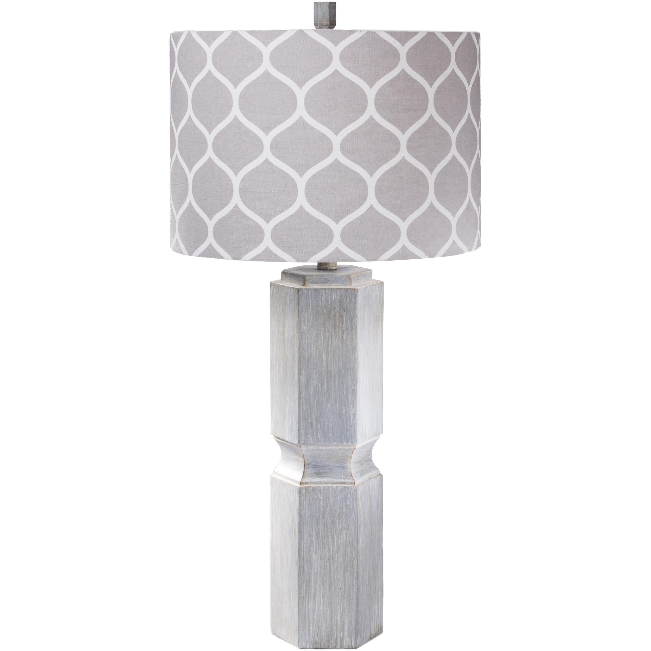 SURYA Contemporary Jodi Table Lamp (Grey) (Resin)