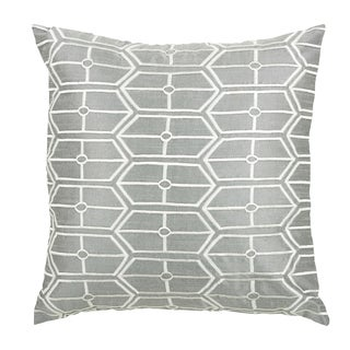 Rizzy Home Grey 18-inch Geometric Throw Pillow