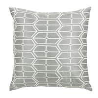 Rizzy Home Grey 18-inch Geometric Throw Pillow