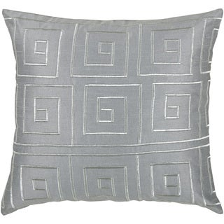 Rizzy Home Grey and Pink and Lilac 18-inch Geometric Throw Pillow