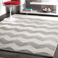 Clay Alder Home Colville Geometric Chevron Kids Rug (5'3 x 7'9) - 5'3 x 7'9