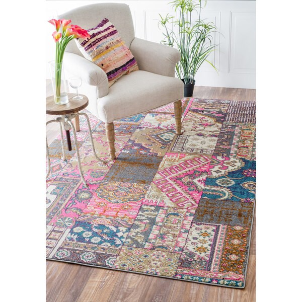 Nuloom Abstract Patchwork Fancy Multi Rug 5 3 X 7 7