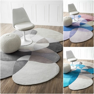 nuLOOM Handmade Shaped Pebbles Kids Rug (5' x 8')