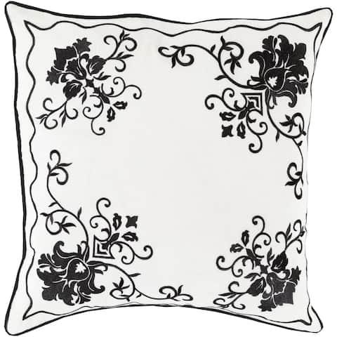 Florence de Dampierre: Decorative Annabel Damask 22-inch Throw Pillow
