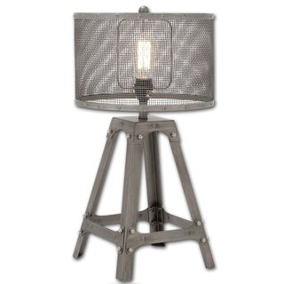 Industrial Cage Metal Table Lamp