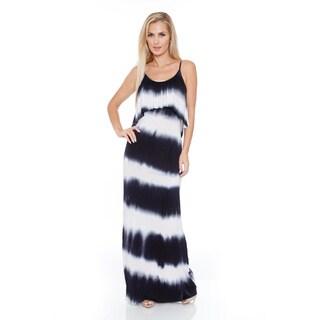 White Mark Women's 'Kalea' Tie Dye Overlay Maxi Dress